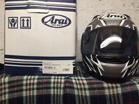 motorcycle helmet arai as new