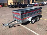 "Tema PRO Trailer Double Axle 8ft 6"" x 4ft 1"" - 263cm x 125cm 750kg and Extension Side"