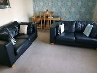 Black 2 seater sofas qty 2