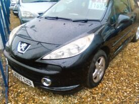 2007 Peugeot 207 1.4 petrol 3 door hatch back ideal first car full MOT very tidy car inside and out