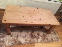 Solid pine coffee table. Bought for £150 selling £45! Bargain