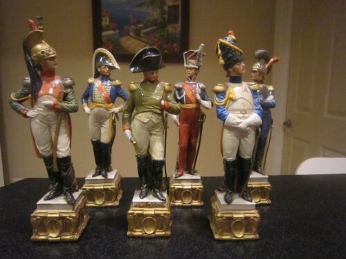 Set of 4 Capodimonte by Bruno Merli porcelain figurines - Napoleon Soldiers