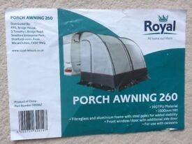 Two bay porch awning