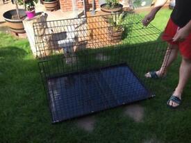 Dog cage foldable
