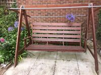 Harbo wooden garden 3 seater hammock/swing