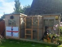Big garden shed/aviary with all accessories included.