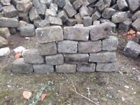 Reclaimed granite setts/cobbles/dry walling/edging kerbs