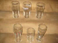 6 Mixed Size Glasses