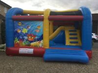 Ocean World Climb and Slide 16ft Commercial Bouncy Castle 1019
