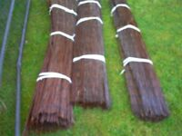 Willow screening for garden fence