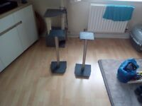 Two speaker stands for sale