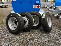 215/75/17.5 J rated trailer tyres trailer wheels Lowloader wheels