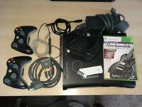 XBox 360 120Gb Hard Drive with Rocksmith 2014, 2 controllers and wifi adapter