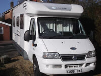 Lunar Champ 4 berth motor home in excellent condition, fully equiped, new 12month MOT.