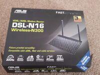 Asus DSL-N16 300Mbps Wi-Fi VDSL/ADSL Modem Router