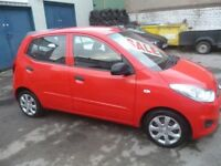 Hyundai I10 Classic,5 dr hatchback,full MOT,1 previous owner,2 keys,£20 yr road tax,low mileage 43k