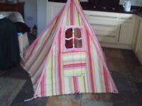 Girls wigwam / teepee / play tent - fairy design with rear window