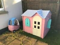 Little tikes Wendy house and car