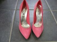 Pink Suede Siletto Heel Shoes Size 4 (Only Worn Once)