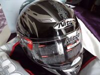 NEW 5 Star Fibreglass Motorbike Motorcycle Helmet XXL Nitro Black/Silver Aikido