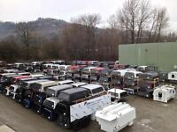Used Truck Canopies - 300 in stock, the Biggest in B.C