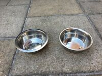 2 Stainless Steel Dog Bowls 1600ml