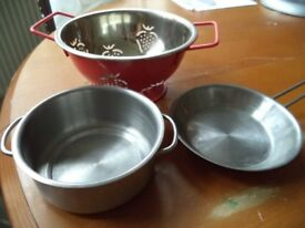 Children's toy kitchen pans