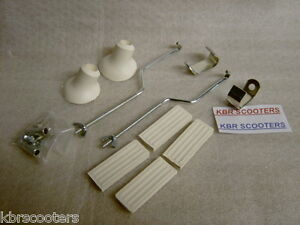 FRONT RACK FIXING KIT WITH QUALITY RUBBERS IN WHITE FITS VESPA,LAMBRETTA,RACKS