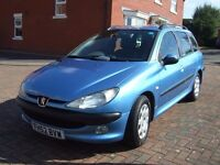 2003 Peugeot 206 SW 2.0 HDI XT TURBO DIESEL, BLUE, MOT 8/17, 131K MILES