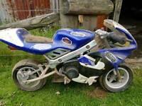 Mini moto blue