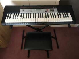 Casio CTK-1500 keyboard, stand and seat