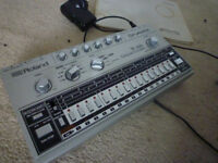 roland tr 606 drum machine and manual and power supply