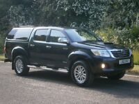2012 Toyota Hi-Lux 3.0 D-4D Invincible 4x4 DOUBLE CAB PICK UP, ONE OWNER, SAT NAV, CANOPY, FINANCE?