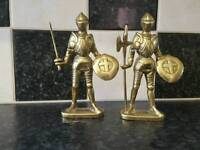 Brass soldiers (Axe + Sword) statues