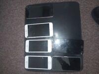 Several damaged phones read ad