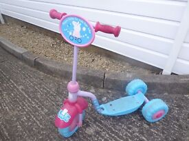 ** Peppa Pig Scooter - 3 wheel scooter £10