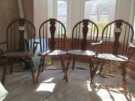 Windsor Style Dining Chairs x 4 - very good condition