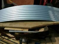 2 new sheets of curved corrugated tin
