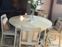 This set of French antique chairs and gateleg table are really attractive and good looking.