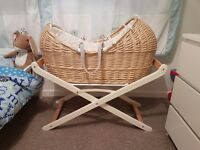 Mothercare peter rabbit moses basket and stand