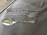 Knives ,forks &dessert spoons