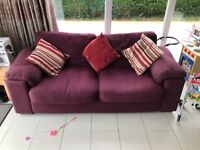 two matching 3 seater sofas