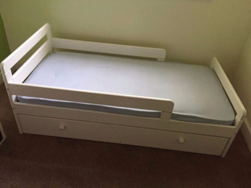 HOME Ellis Storage Toddler Bed With Mattress