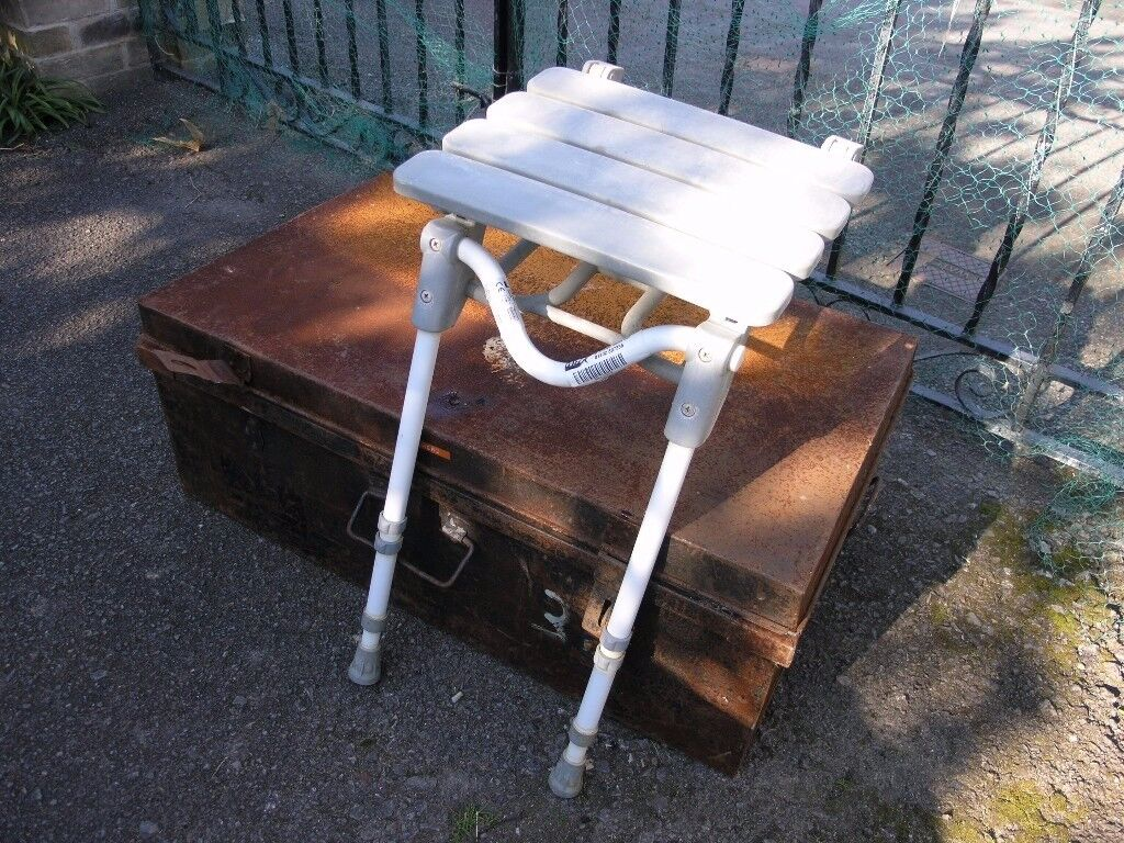 White Disabled / Infirm Fold Down Shower Seat Weymouth