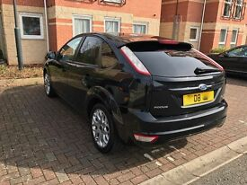 2008 BLACK FORD FOCUS ZETEC (1.6) WITH EXTRAS [FSH]