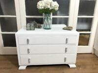 Lovely chest of drawers Free Delivery Ldn Vintage shabby chic oak