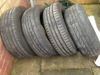4 part used branded tyres 205- 60- r16 for sale