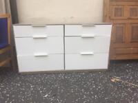 White gloss drawers