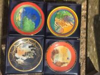 Royal Worcester Art Deco collection of 4 mini plates