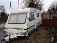 5 berth caravan with large awning